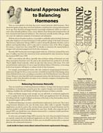Natural Approaches to Balancing Hormones