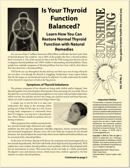 Is Your Thyroid Function Balanced?