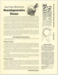 Save Your Mind from Neurodegenerative Disease