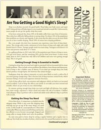 Are You Getting Enough Sleep? - Vol 32 #1